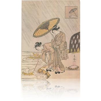 雨乞い小町 春信