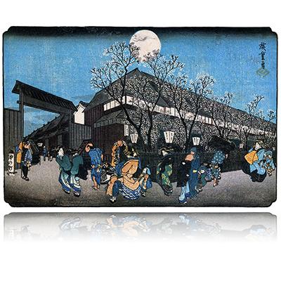 東都名所 吉原仲之町 夜桜 とうとめいしょ よしわらなかのちようよざくら