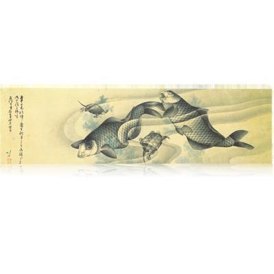 鯉魚図 北斎