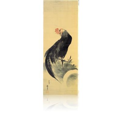 鶏図 北斎