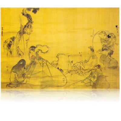 七福神図(合筆) 北斎