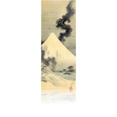 富士越龍図 北斎