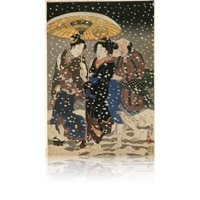 国貞 神無月はつ雪のそうですか