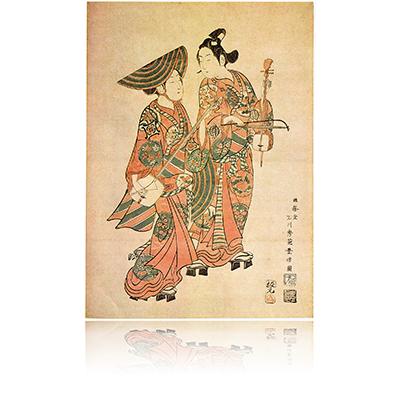 鳥追い・尾上菊五郎と中村喜代三郎 豊信