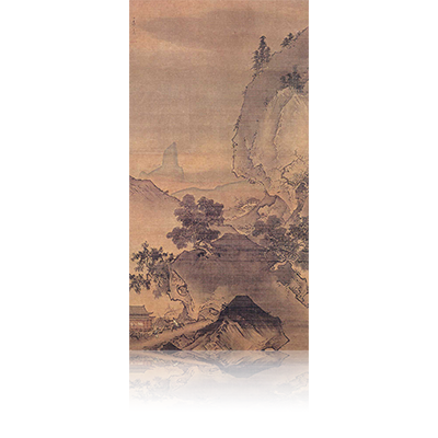 四季山水図(春) Four Seasons landscape view 雪舟 Sesshu