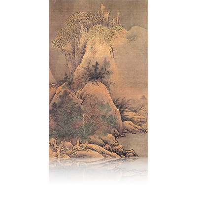 四季山水図(冬) Four Seasons landscape view 雪舟 Sesshu