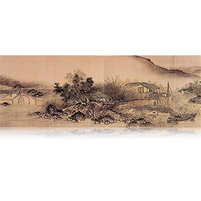 四季山水図巻(夏) Four Seasons landscape view 雪舟 Sesshu