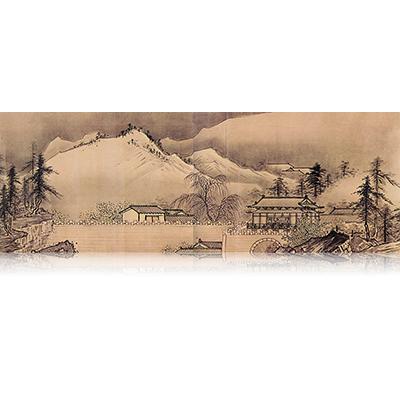 四季山水図巻(冬) Four Seasons landscape view 雪舟 Sesshu