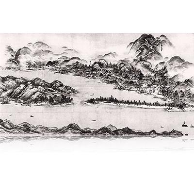 天橋立図 あまのはしだてず Amanohasidate view. 雪舟 Sesshu