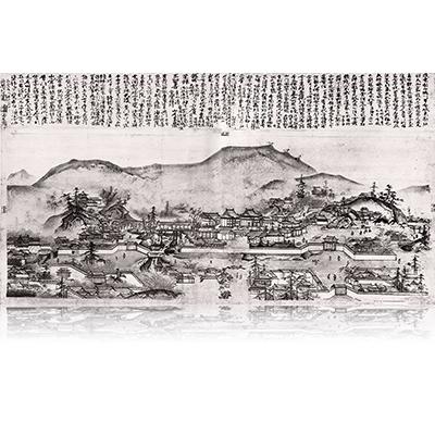 東福寺伽藍図 とうふくじがらんず Tofukuji temple Figure. 雪舟 Sesshu