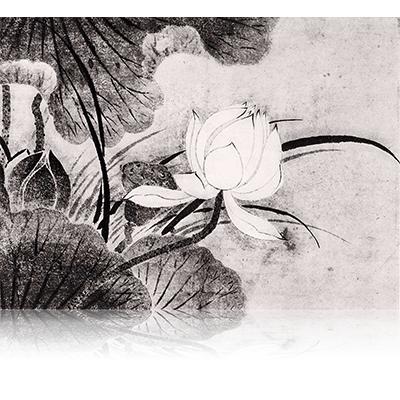 拙宗等揚筆 三教・蓮池図 せっそうとうようひつ さんきょ・はすいけず Sesso Toyo wrote. Sankyo and Lotus Pond image. 雪舟 Sesshu