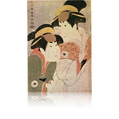 二代瀬川富三郎の大岸蔵人妻やどり木と中村万世の腰元若草 写楽