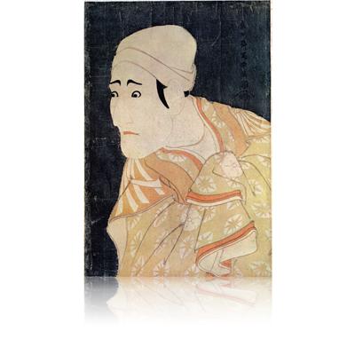 八代森田勘弥の駕篭昇鶯の次郎作 写楽