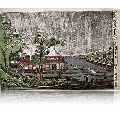 浮絵阿蘭陀雪見之図 豊春