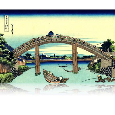 深川万年橋下 ふかがわまんねんばしした Under Mannen Bridge at Fukagawa. wpfmf3606