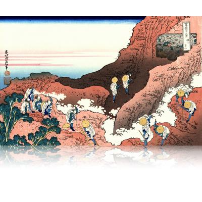 諸人登山 しょにんとざん Climbing on Fuji. wpfmf3634
