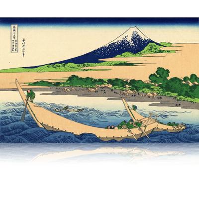 東海道江尻田子の浦略圖 とうかいどうえじりたごのうらりゃくず Shore of Tago Bay. Ejiri at Tokaido. wpfmf3636