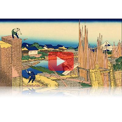 遠近風景画 富嶽三十六景 其の五 本所立川 Honjo Tatekawa Thirty-six Views of Mount Fuji 3D