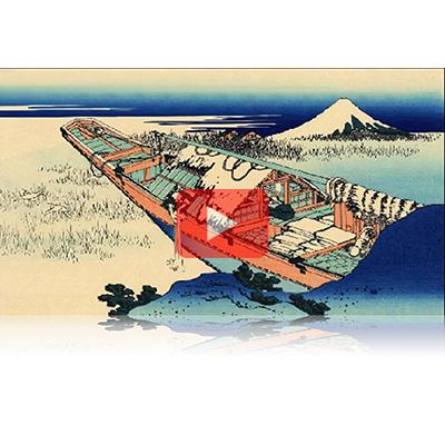 遠近風景画 富嶽三十六景 其の十九 常州牛掘 Joushu Ushibori Thirty-six Views of Mount Fuji 3D