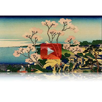 遠近風景画 富嶽三十六景 其の二十 東海道品川御殿山ノ不二 Toukaidou Shinagawa Gotenyama Fuji Thirty-six Views of Mount Fuji 3D