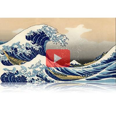 遠近風景画 富嶽三十六景 其の二十一 神奈川沖浪裏 The Great Wave off Kanagawa Thirty-six Views of Mount Fuji 3D