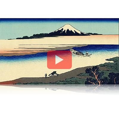 遠近風景画 富嶽三十六景 其の二十二 武州玉川 Bushu Tamagawa Thirty-six Views of Mount Fuji 3D