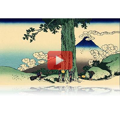 遠近風景画 富嶽三十六景 其の二十九 甲州三嶌越 Koushu Mishimagoe Thirty-six Views of Mount Fuji 3D
