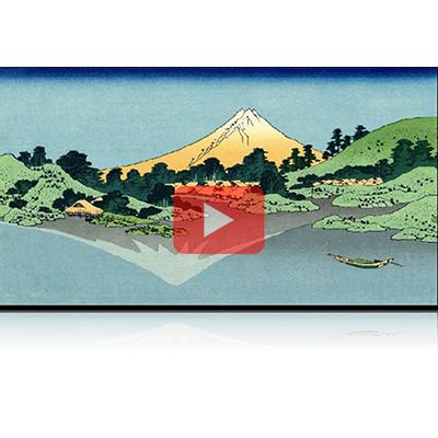 遠近風景画 富嶽三十六景 其の四十二 甲州三坂水面 Koushu Misakasuimen Thirty-six Views of Mount Fuji 3D