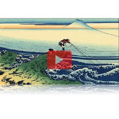 遠近風景画 富嶽三十六景 其の四十五 甲州石班澤 Koushu Kajikazawa Thirty-six Views of Mount Fuji 3D
