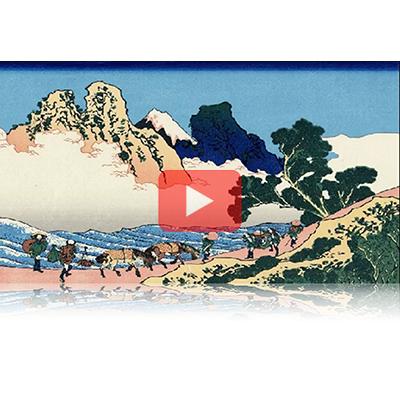 遠近風景画 富嶽三十六景 其の四十六 身延川裏不二 Minobugawaura Fuji Thirty-six Views of Mount Fuji 3D