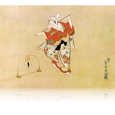 嵐三五郎の狐舞い 清信