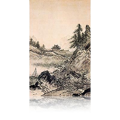 秋冬山水図(秋) Fall and winter landscape view 雪舟 Sesshu
