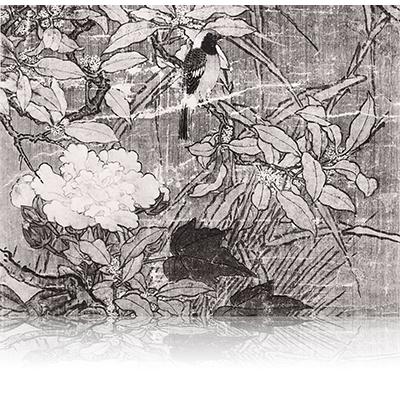 花鳥図  かちょうず Flowers and birds view. 雪舟 Sesshu
