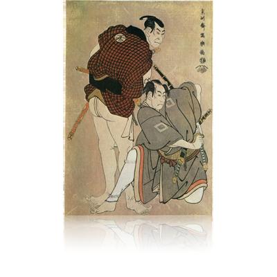 市川男女蔵の関取雷鶴之助と二代大谷鬼次の浮き世土平 写楽