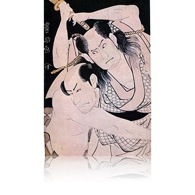 三代沢村宗十郎と嵐竜蔵 豊国