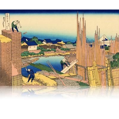 本所立川 ほんじょたてかわ Honjo Tatekawa. the timberyard at Honjo. wpfmf3605