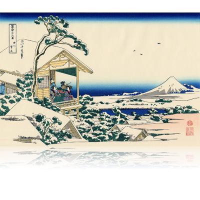礫川雪ノ旦 こいしかわゆきのあした Tea house at Koishikawa. The morning after a snowfall. wpfmf3611