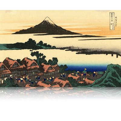 甲州伊沢暁 こうしゅういさわのあかつき Dawn at Isawa in Kai Province. wpfmf3643