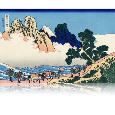 身延川裏不二 みのぶがわうらふじ The back of Fuji from the Minobu river. wpfmf3646
